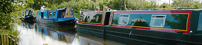 Barges in Shropshire, England