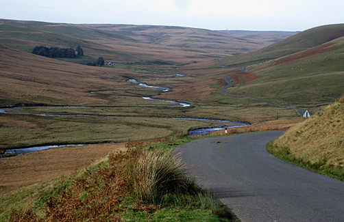 Mountain road above the Elan Valley, Mid Wales