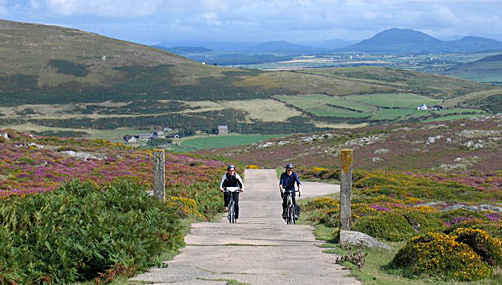Cycling up to the Bardsey view point