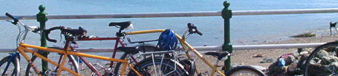 Bicycle on the prom at Criccieth, North Wales