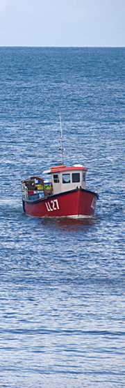 Fishing boat off the Welsh coast