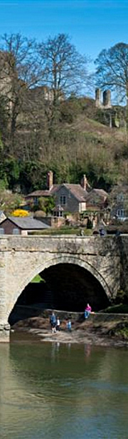Ludlow bridge and castle