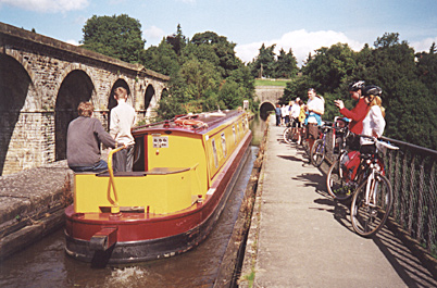 Barges on Chirk Aquaduct