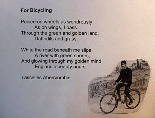 Bicycling poem by Abercrombie