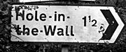 Hole-in-the-Wall signpost