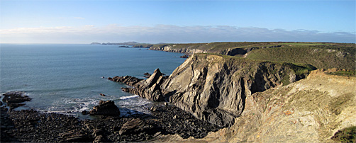 Cliffs of St Brides Bay