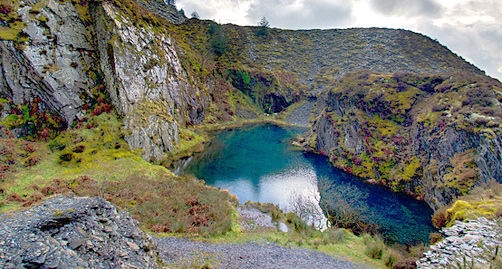 Pool in Rosebush quarries, Pembrokeshire