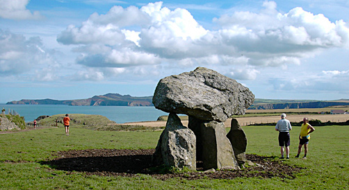 Careg Sampson burial chamber, Pembrokeshire