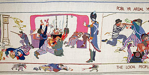 Last invasion of Britain tapestry 1