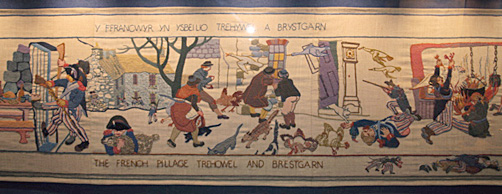Last invasion of Britain tapestry 2